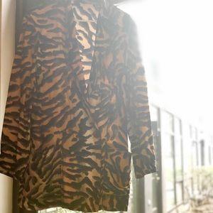Vintage 90's Tiger Print Blazer